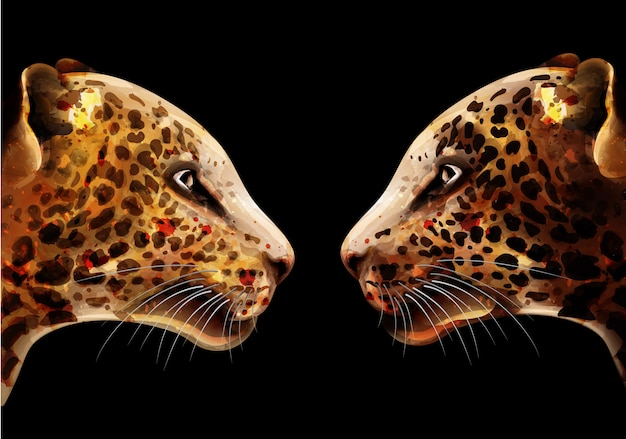 Acquerello leopardo