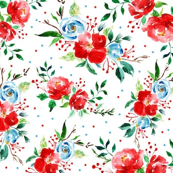 Acquerello merry christmas pattern background