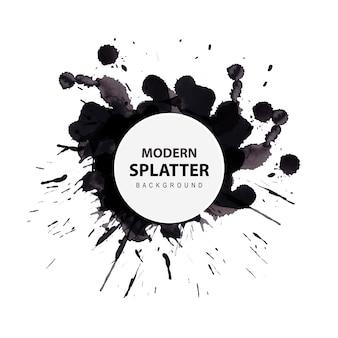 Acquerello moderno splatter background