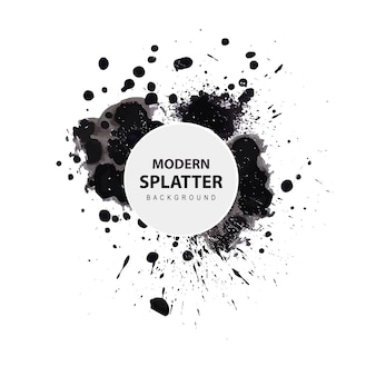 Acquerello moderno splatter background