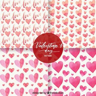 Acquerello raccolta modello di san valentino