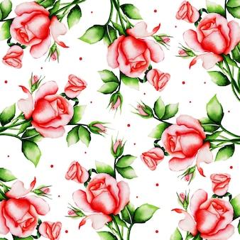 Acquerello san valentino sfondo floreale