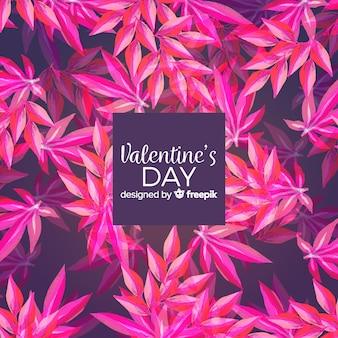 Acquerello san valentino sullo sfondo
