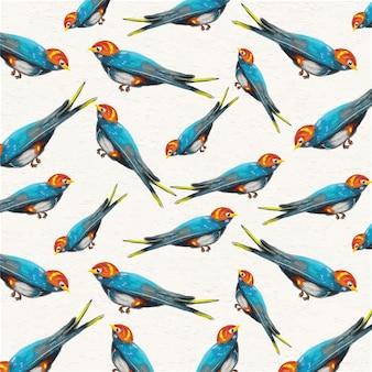 Acquerello sfondo con passeri