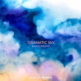 Acquerello sfondo del cielo drammatico