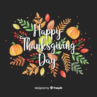 Acquerello sfondo del giorno del ringraziamento