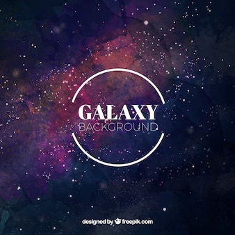 Acquerello sfondo dell'universo con le stelle