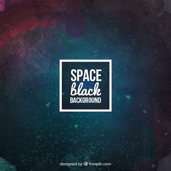 Acquerello sfondo dello spazio