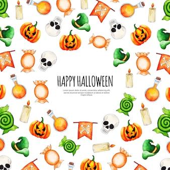 Acquerello sfondo di halloween
