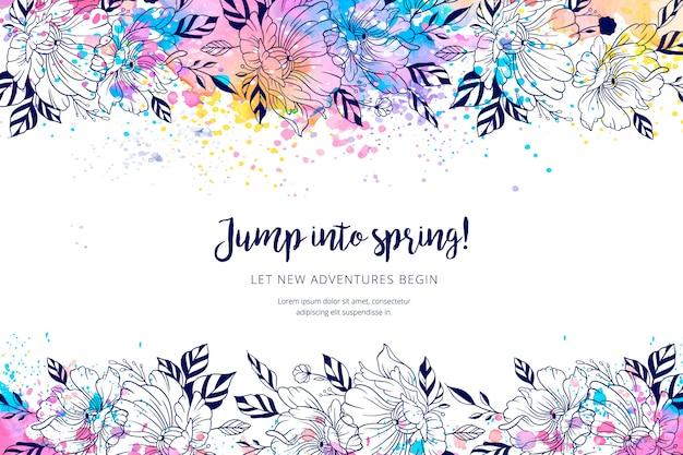 Acquerello sfondo di primavera