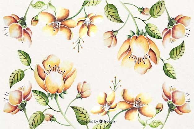 Acquerello sfondo floreale vintage