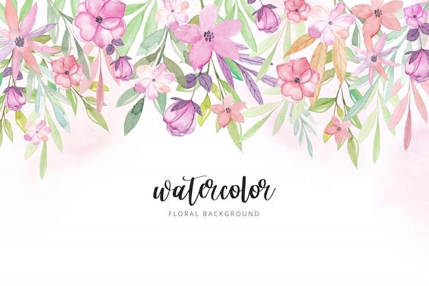 Acquerello sfondo floreale.