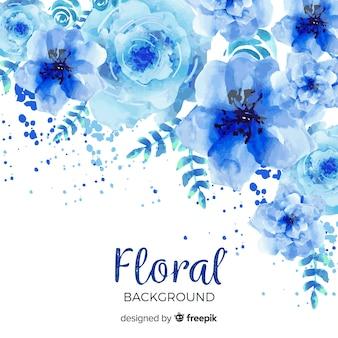 Acquerello sfondo floreale