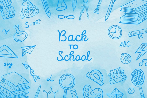 Acquerello torna a scuola sfondo