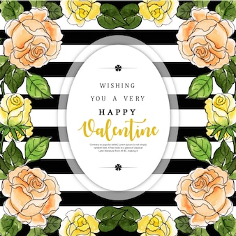 Acquerello Valentine Black Stripe Background