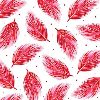 Acquerello valentine feather pattern background