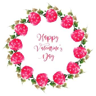 Acquerello valentine floral wreath