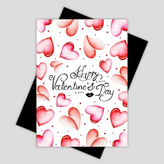 Acquerello valentine greeting card