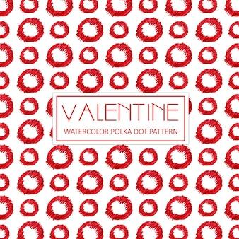 Acquerello valentine polka dot background