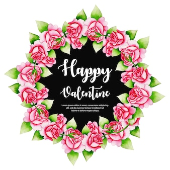 Acquerello valentine wreath