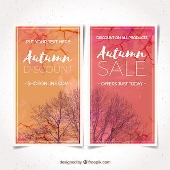 Acquerello vendita autunno con stile moderno