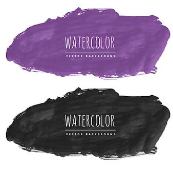 Acquerello viola e nero macchia di sfondo