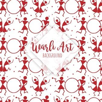 Acquerello warli art pattern background