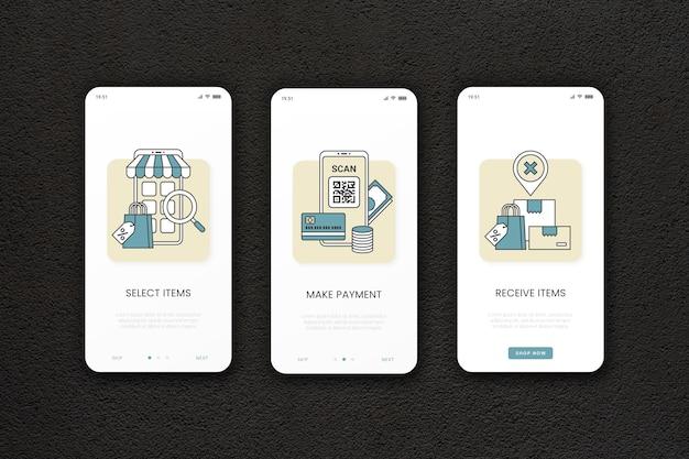 Acquista il modello di app onboarding online