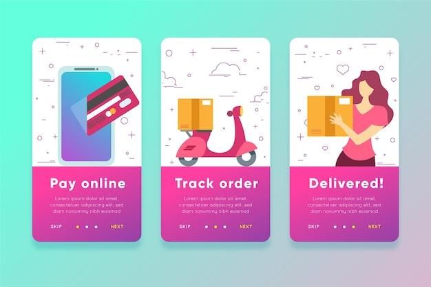Acquista le schermate delle app di onboarding online