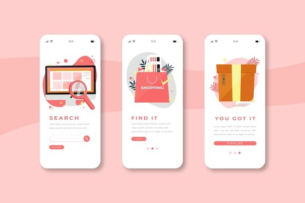 Acquista le schermate delle app onboarding online