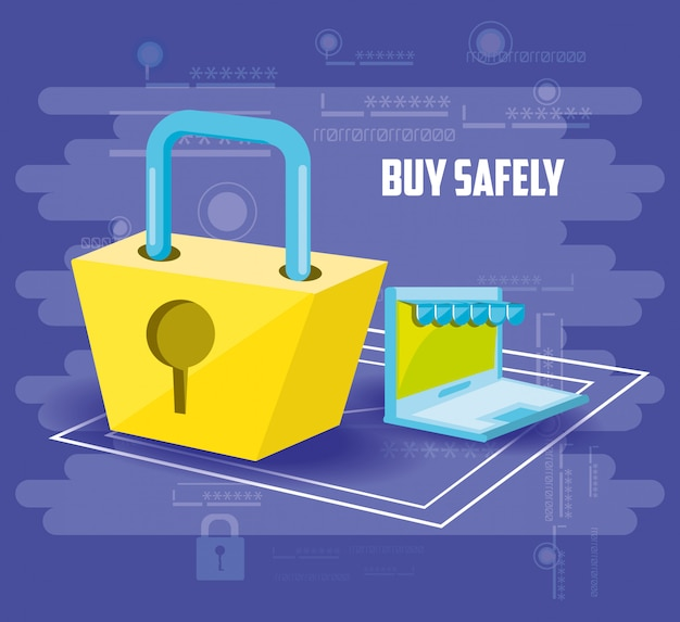 Acquista online in sicurezza con il laptop