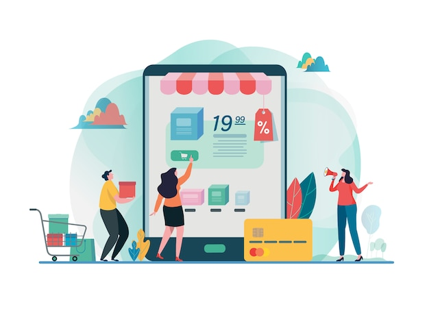 Acquista un negozio online. shopping sul cellulare.