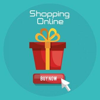 Acquisti online con banner confezione regalo