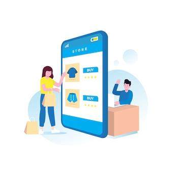 Acquisti online con smartphone