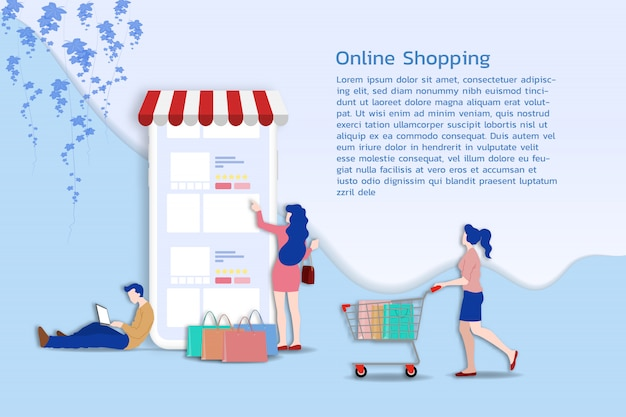 Acquisti online per m-commerce.