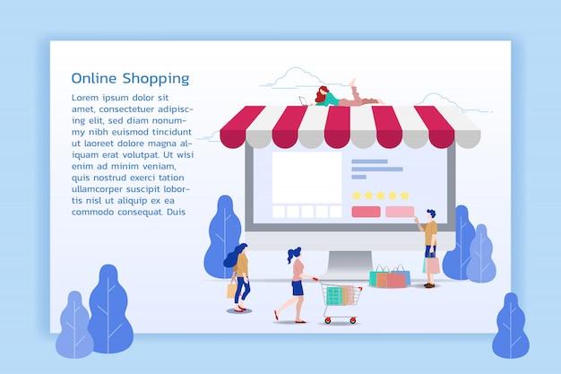 Acquisti online per m-commerce.