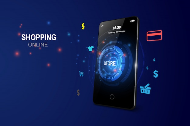Acquisti online su applicazione mobile