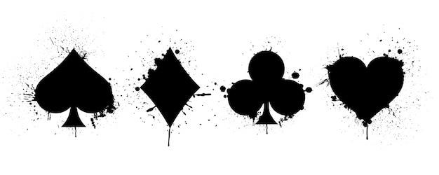 Adatto a mazzo di carte da gioco su sfondo di schizzi