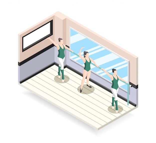 Addestramento dell'illustrazione dei ballerini di balletto
