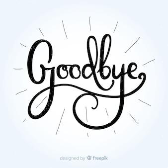Addio lettering sfondo
