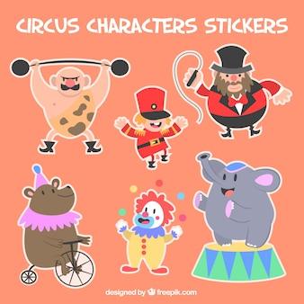 Adesivi carattere circo