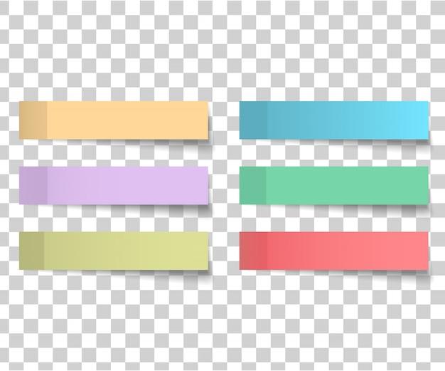 Adesivi colorati e bianchi quadrati
