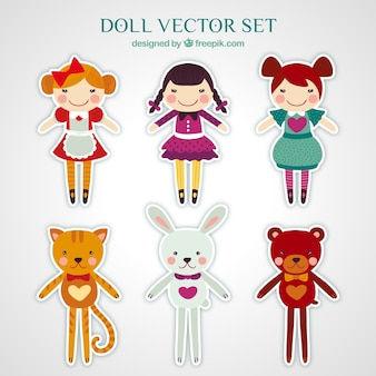Adesivi di bambole pacco