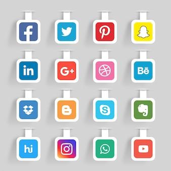 Adesivi di social media