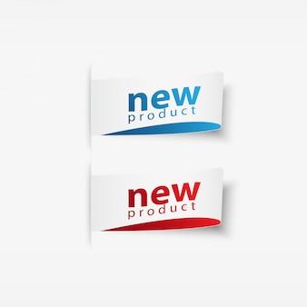 Adesivi e tag per nuovi prodotti