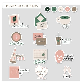 Adesivi fancy planner