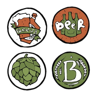 Adesivi o emblemi pub birra