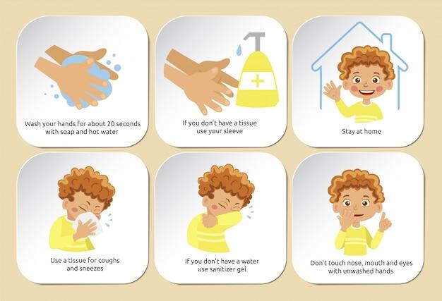 Adesivi per quarantena di coronavirus