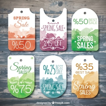 Adesivi vendite primavera acquerello