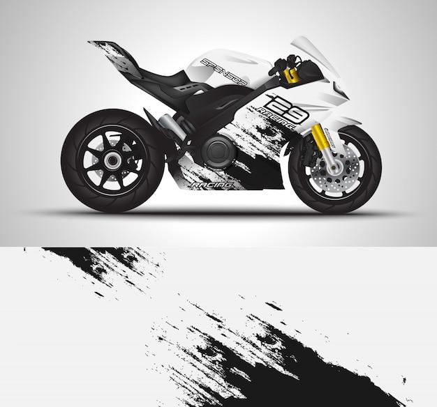 Adesivo con rivestimento per moto e adesivo in vinile